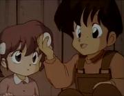Yasukichi and Kasumi as children