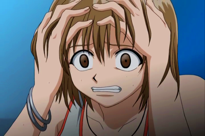 Image - Elie scared of thunder.png | Rave Master Wiki ...  Frightened Face Anime