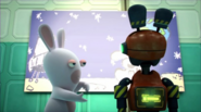 Rabbids Invasion Rabbid & Rabbidroid watching Cartoon Rabbid Se2-Ep4 (Rabbidroid-Rabbid-Fit-Rabbid-Compression)