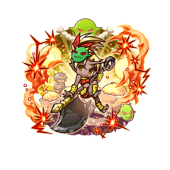 Auro (Red Demon Princess) as an Ogre Mixblood in the mobile game