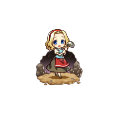 Felicia as a Cook in the mobile game