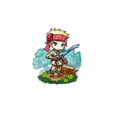 An Elven Soldier (Male) in the mobile game