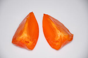 Ripe Hachiya Persimmon Slices 5