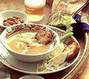 Chicken Soup with Potato Patties