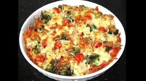 Savory Baked Vegetables with Ham and Mozzarella Cheese Homemade Pizza Recipe