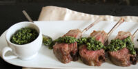 Barbeque Rack of Lamb with Mint