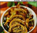 Mushroom-omelette roll Sienimunakas-kääryle