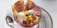 Tropical Fruit Salsa on Ice Cream