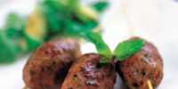 Kofta with Sunflower Seed Butter for the Clamshell Grill