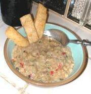 Mediterranean Thai Eggplant White Bean Soup