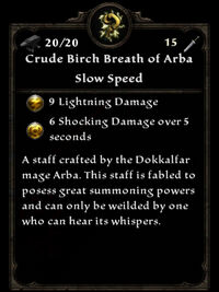 Crude birch breath of arba