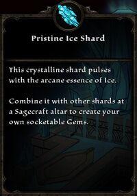 Pristine Ice Shard