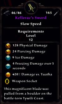 Kellerac's Sword Inventory