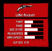 LeMat revolver Stats