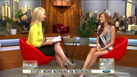 Alyssa Campanella , Miss USA on PIX11 Morning News-0