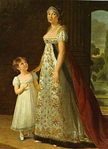 File:Queen Caroline Bonaparte Murat & her daughter.jpg