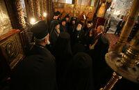 Image-Patriarch Theophilos III of Jerusalem and President Bush 2