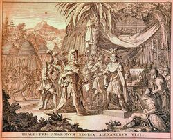 Thalestris, Queen of the Amazons, visits Alexander (1696)