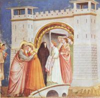 Giotto - Scrovegni - -06- - Meeting at the Golden Gate