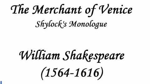 Shylock's Revenge Speech from The Merchant of Venice by William Shakespeare (reading)