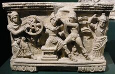 Death of Myrtilus cinerary urn