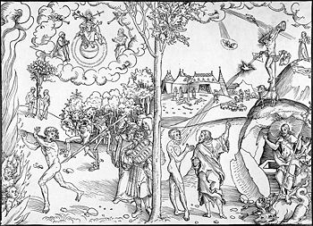 Cranach law and grace woodcut