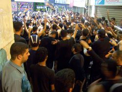 Muharram procession 2, Manama, Bahrain (Feb 2005)
