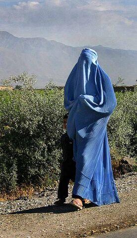 File:Woman walking in Afghanistan.jpg