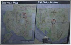 Tall Oaks subway map