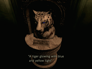 Tiger statue with gems