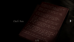 Resident Evil 4 file - Chief's Note 1