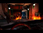 Resident Evil 3 Nemesis screenshot - Uptown - Street along apartment building - Jill Valentine scene 04