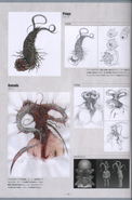 Biohazard Damnation Artbook - Plaga Concept Art