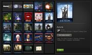 Steam trading cards in a user's inventory