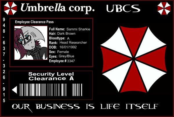 File:Umbrella Corp ID card sammisharkie.png