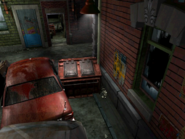 Resident Evil 3 background - Uptown - street along apartment building d - R10D03