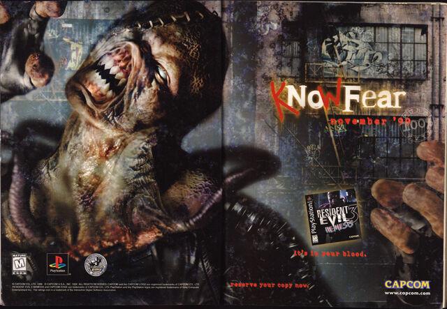File:Resident Evil 3 Nemesis - Official U.S. PlayStation Magazine - Volume 3 Issue 1 October 1999 - advertisement.jpg