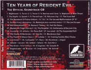 Ten Years of Resident Evil The Official Soundtrack back