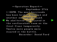 RE2 Operation report 1 08