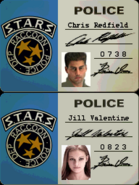 Resident Evil (PlayStation) - Chris Redfield and Jill Valentine STARS badges