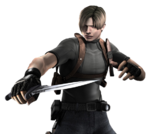 Leon holding knife RE4