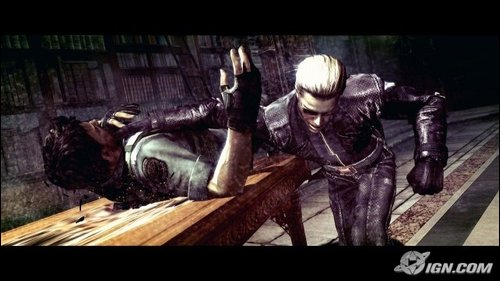 File:Chris vs Wesker.jpg