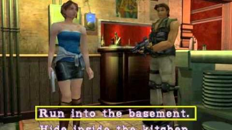 Resident Evil 3 Nemesis cutscenes - Meeting Carlos (Run into the basement)