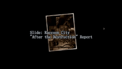 Survivor file - Report on destroyed Raccoon City - page 1