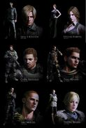 The Protagonists of Resident Evil 6