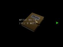 Re264 EX Jill's Note.png