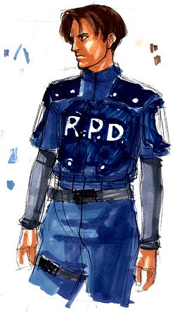 File:BIOHAZARD 1.5 concept art - Leon RPD 02.png