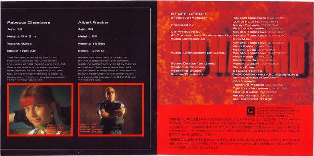 File:BIO HAZARD SOUND TRACK REMIX - JA booklet pages 4 and 5.jpg