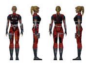 Resident Evil 2 - Elza Walker RPD armor model (damage 2)