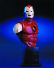 Iron man bust round